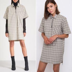 NWT RAGGED PRIEST Drawback Plaid Shirt Dress Egirl